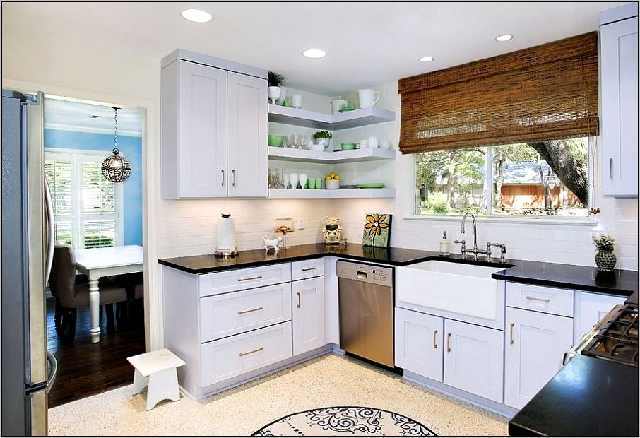 Kitchen Corner Shelf Decorating Ideas