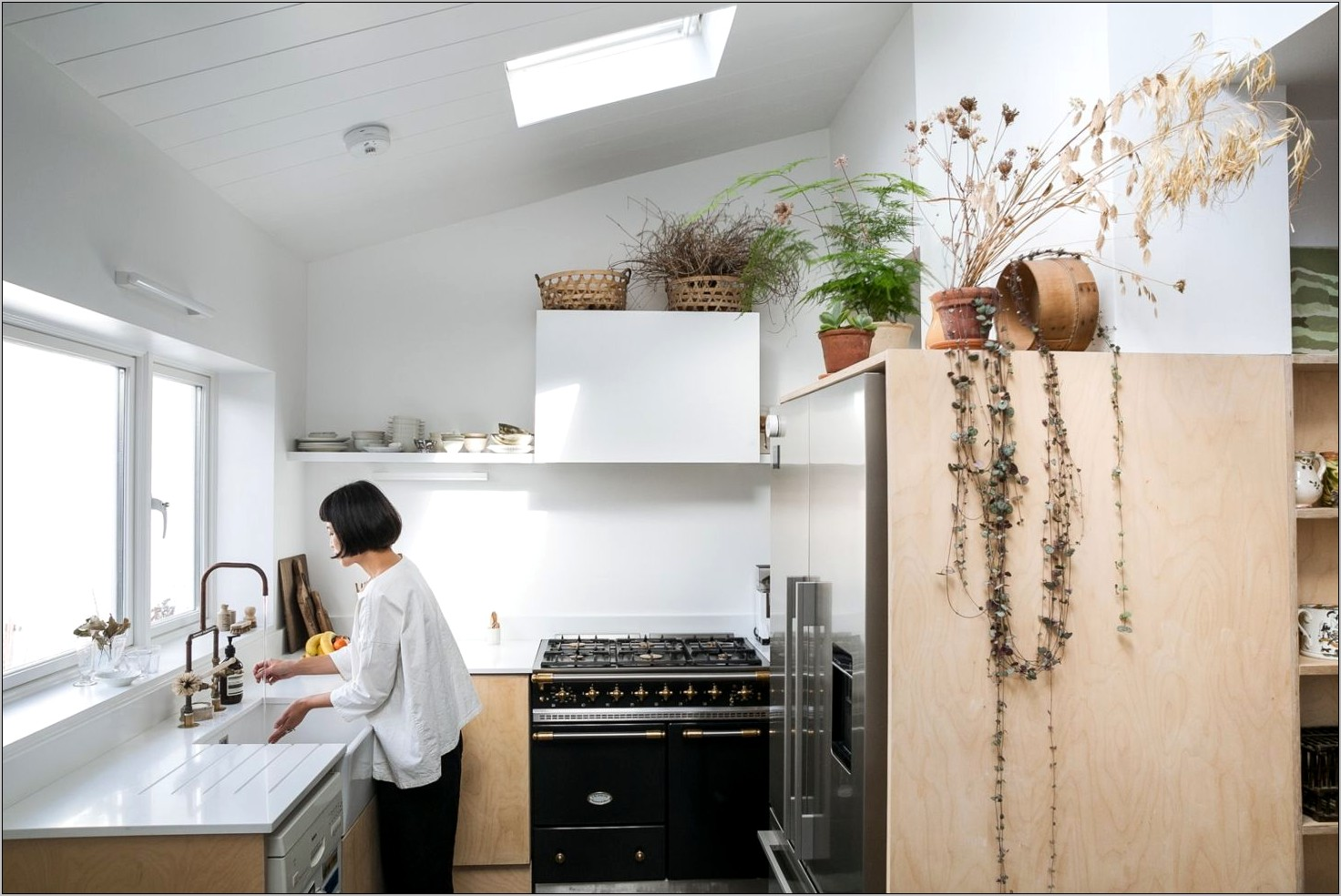 Kitchen Countertops Decor With Dried Flower