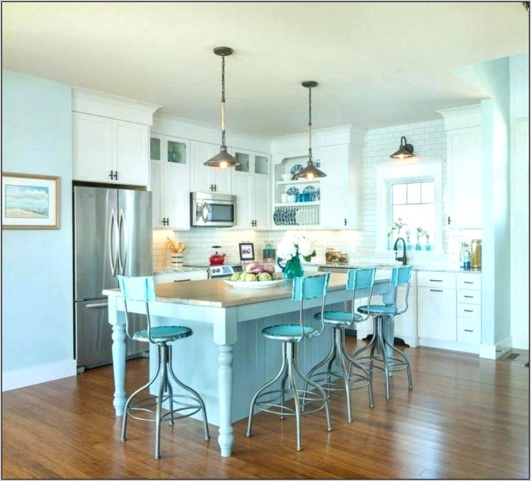 Kitchen Decor Baby Blue And White