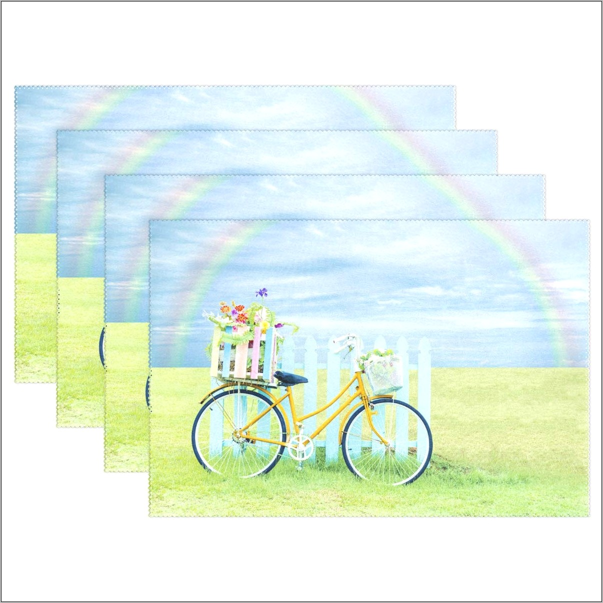 Kitchen Decor Flowers Bicycle