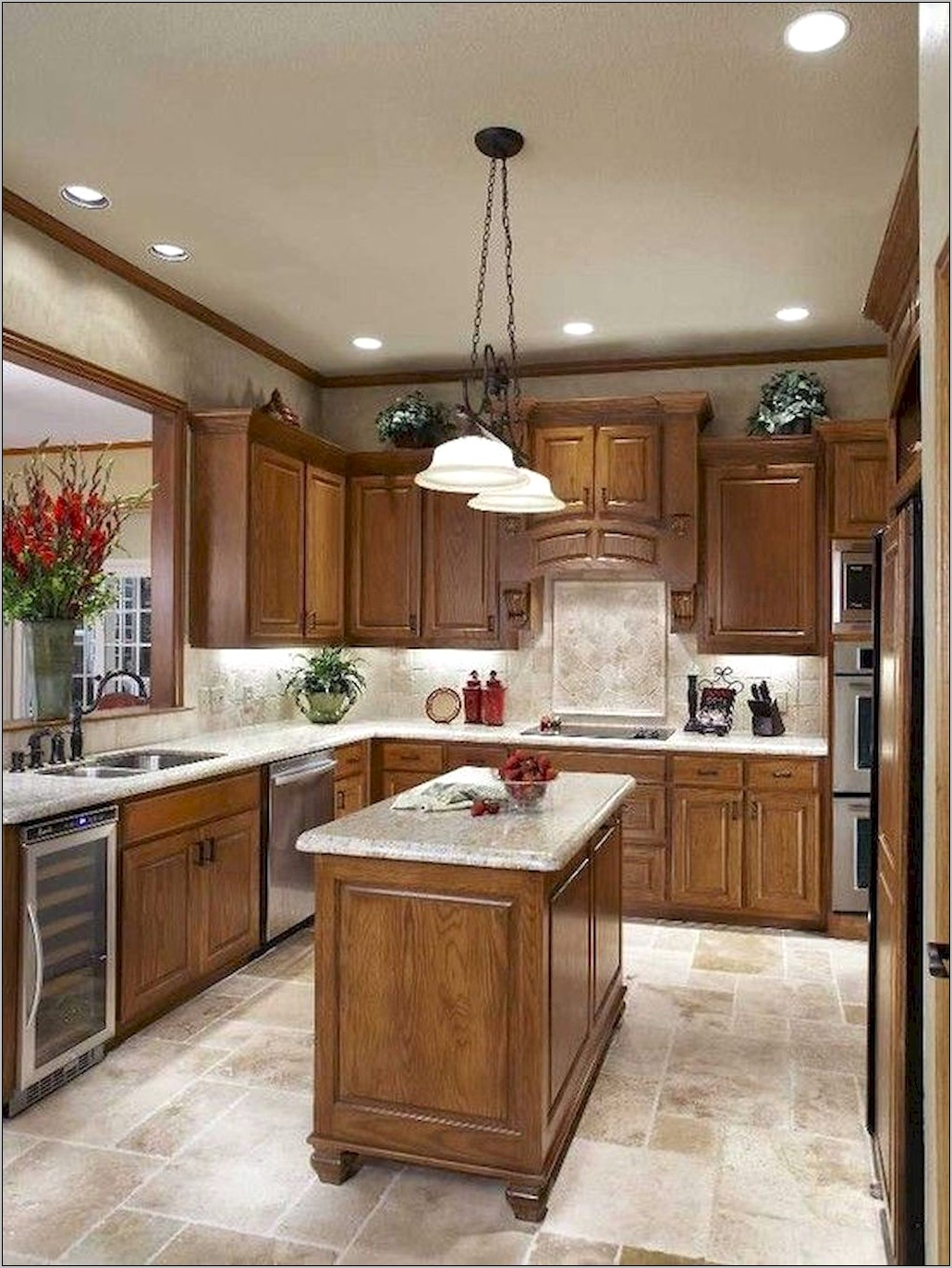 Kitchen Decor Ideas For Oak Cabinets