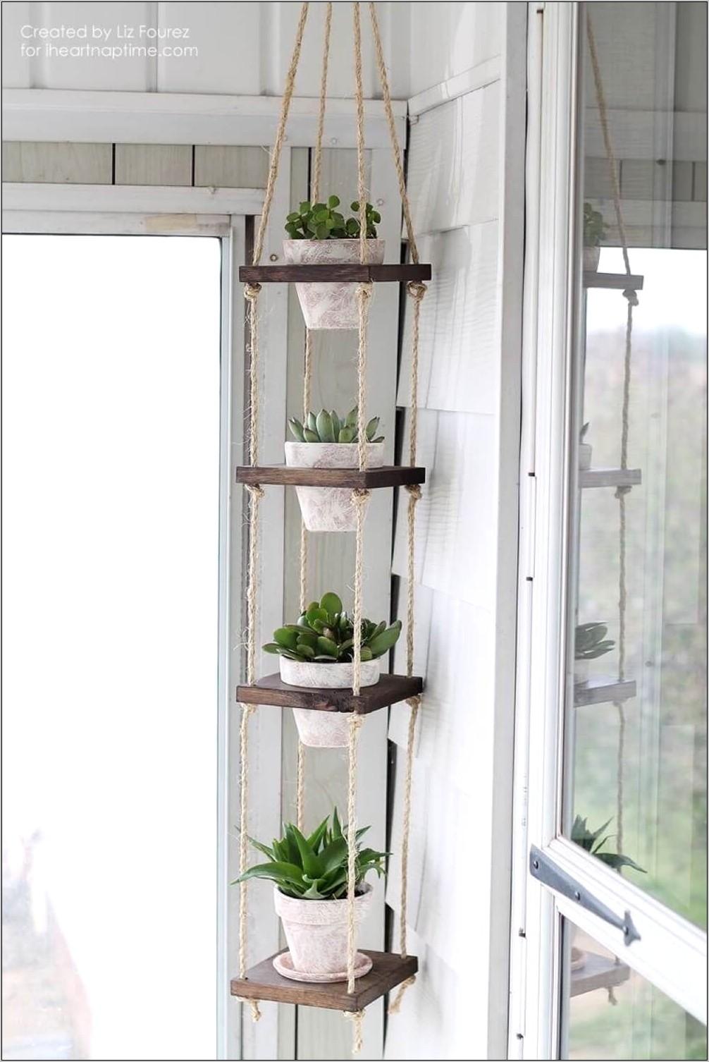 Kitchen Decor Plant Shelves