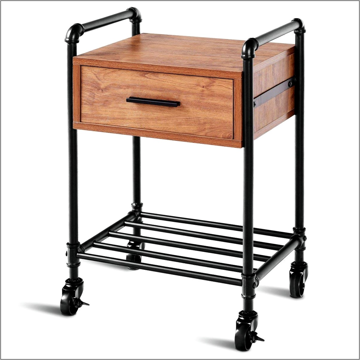 Kitchen Decor Side Table On Wheels