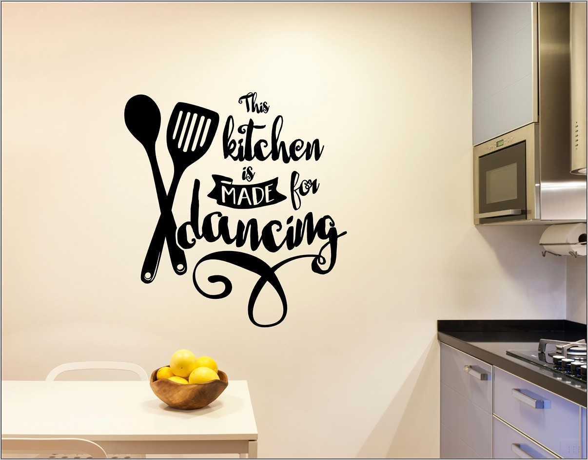 Kitchen Decor Vinyl Wall