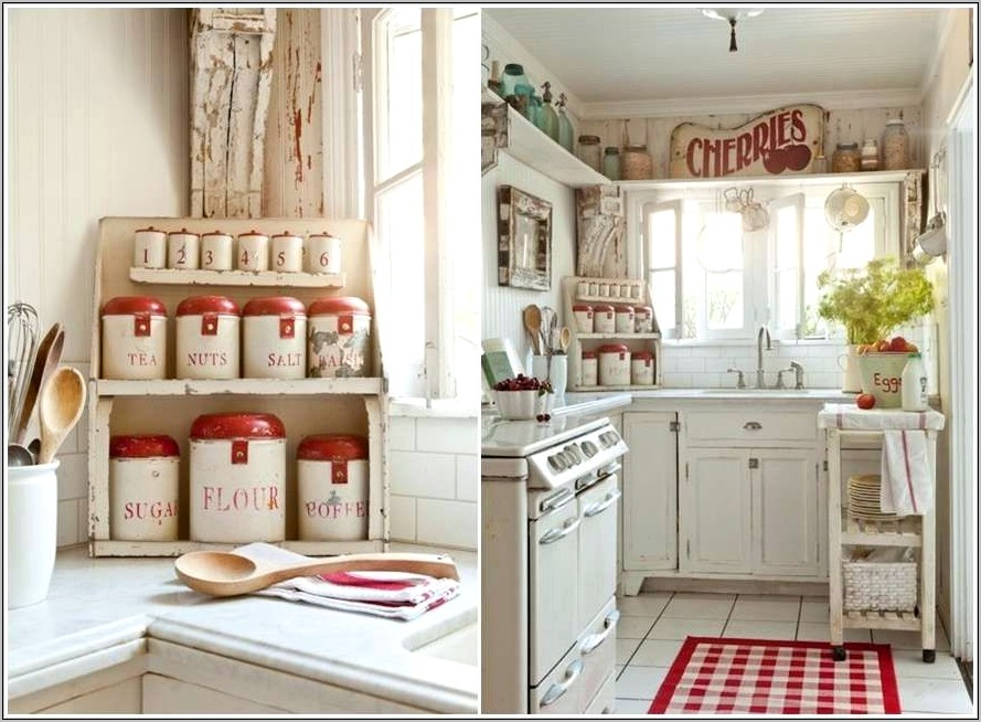 Kitchen Decor With Red Accents