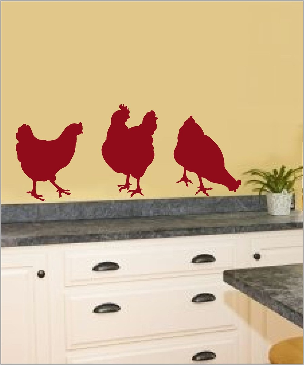 Kitchen Decorated In Chickens