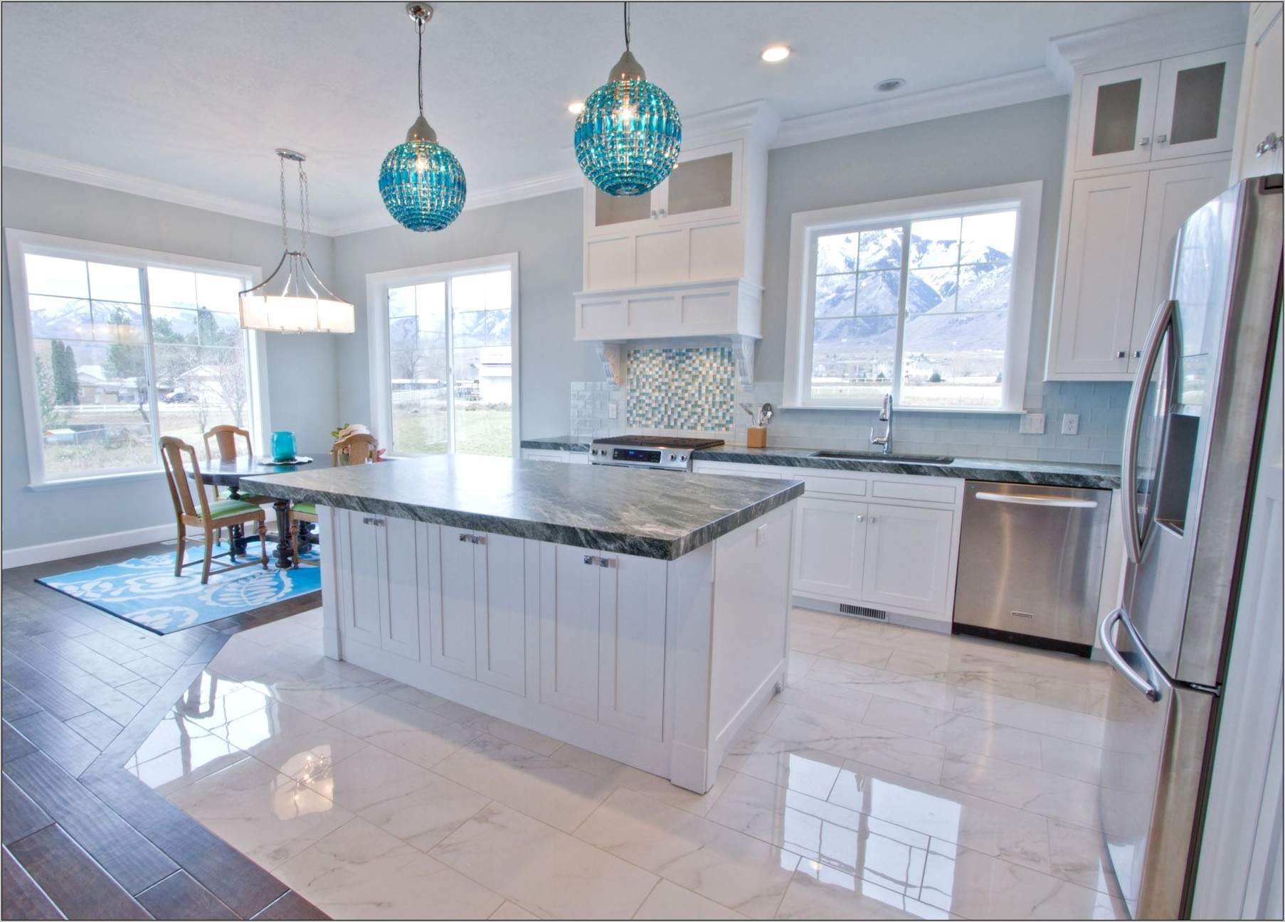 Kitchen Decorating Ideas Blue And White
