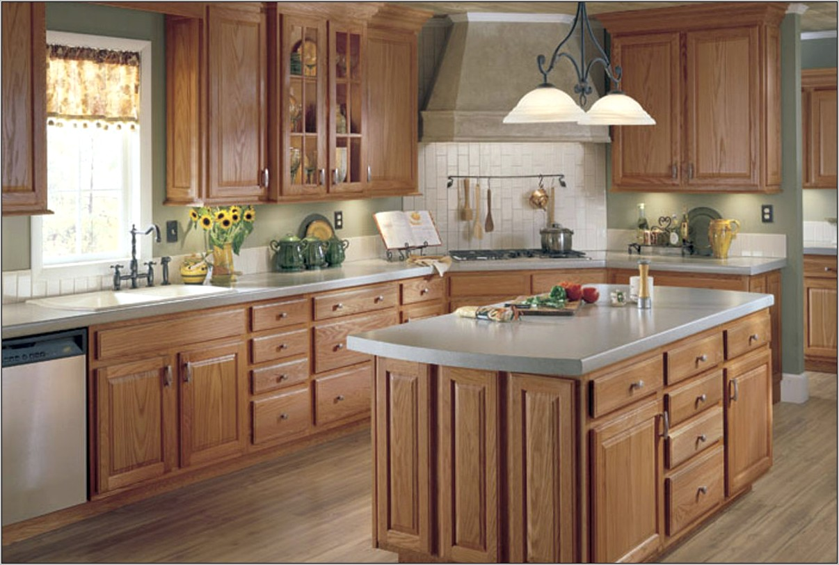 Kitchen Decorating Ideas With Honeywheat Cabinetry