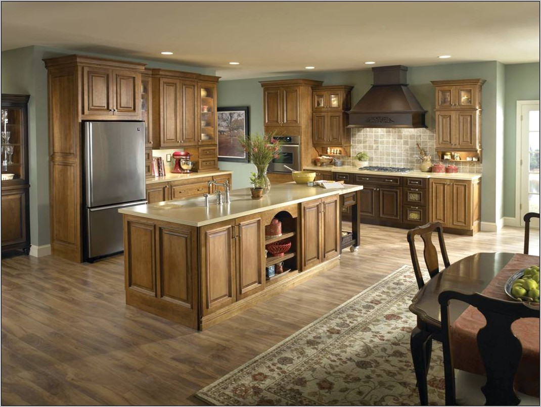 Kitchen Decorating Ideas With Light Oak Cabinets