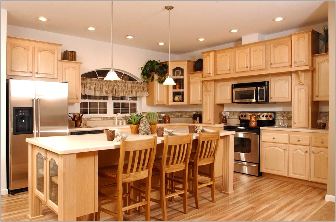 Kitchen Decorating Ideas With Wood Cabinets