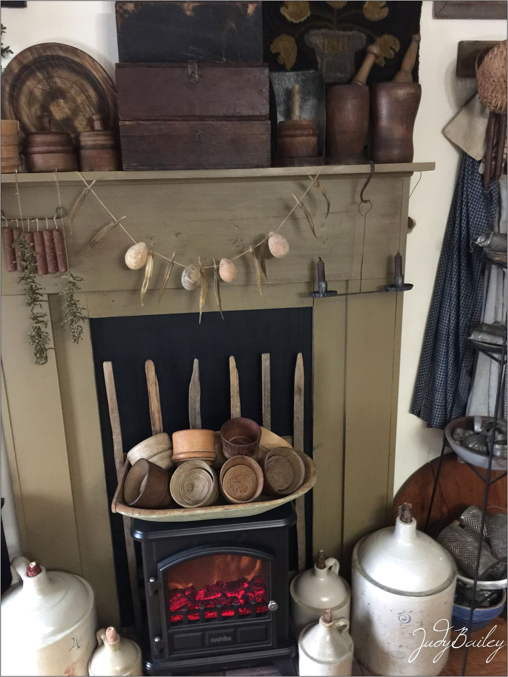 Kitchen Fireplace Mantel Decor