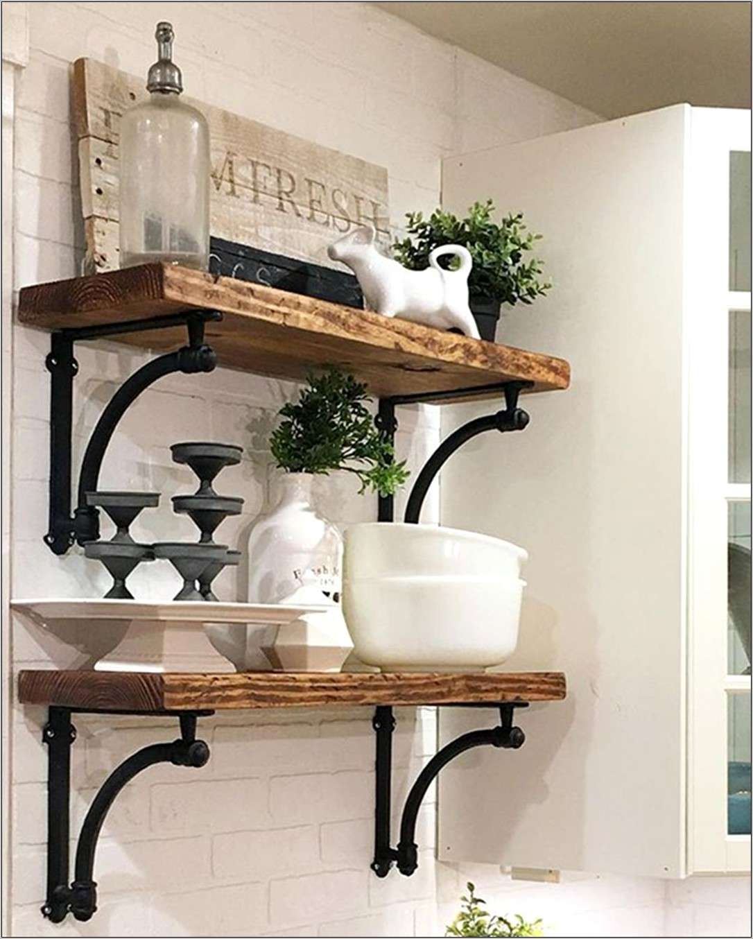 Kitchen Floating Shelves Decor Ideas