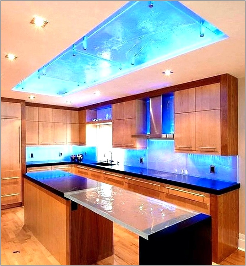 Kitchen Fluorescent Light Fixture With Decorative Cover