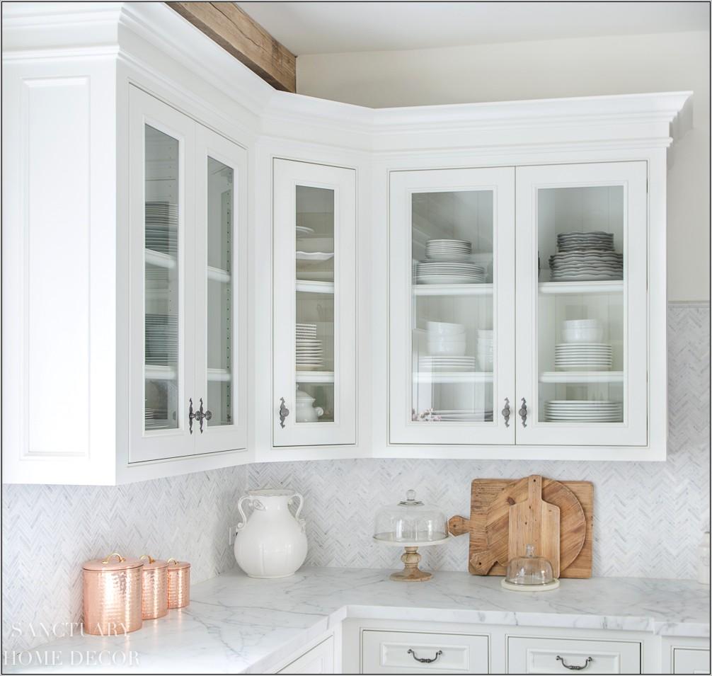 Kitchen Glass Cabinets Decor