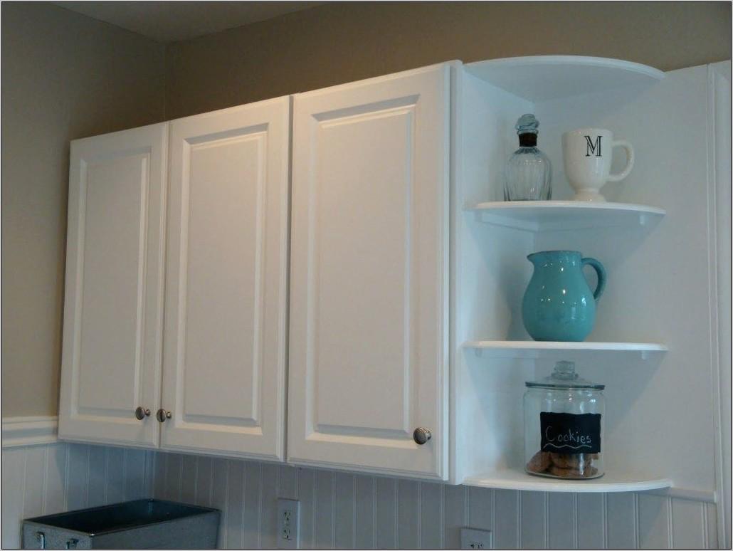 Kitchen Glass Upper Cabinet Decor