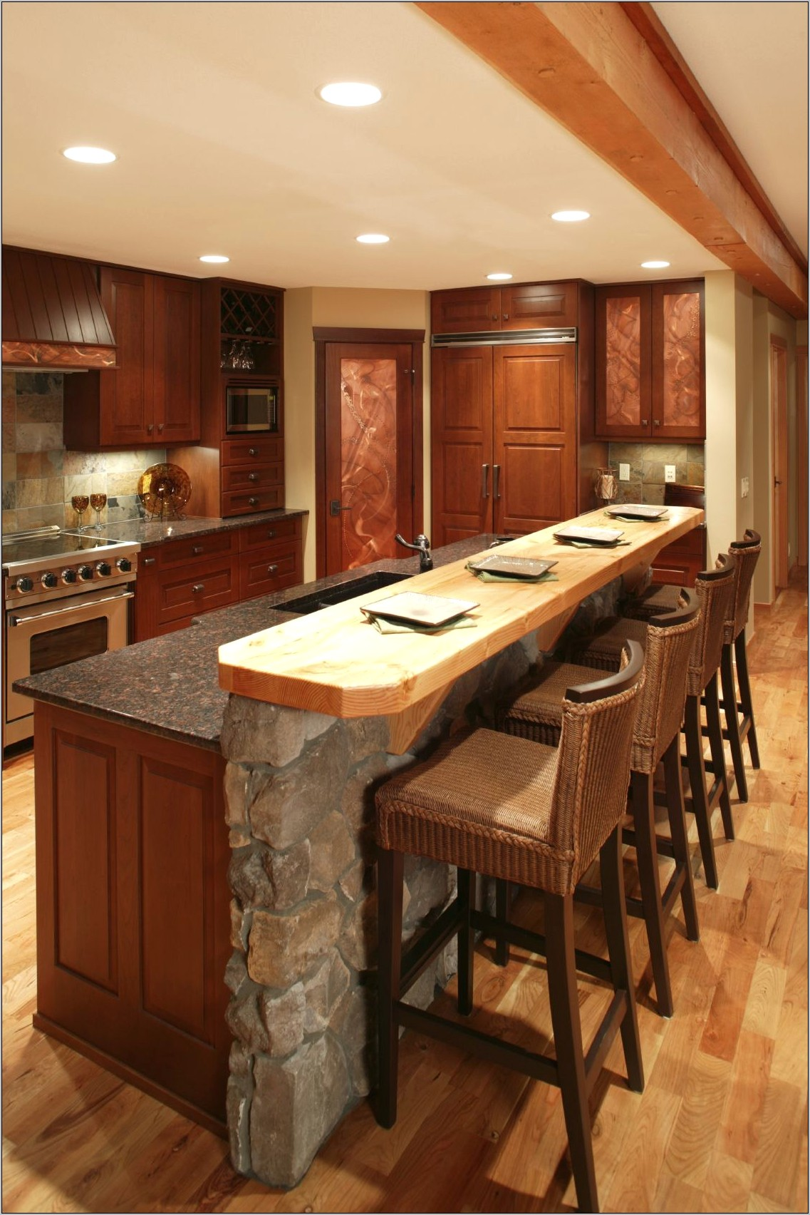 Kitchen Island Bar Decorating Ideas