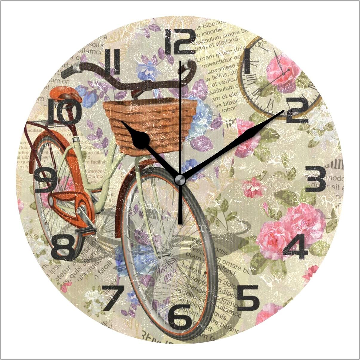 Kitchen Retro Decor Flowers Bicycle