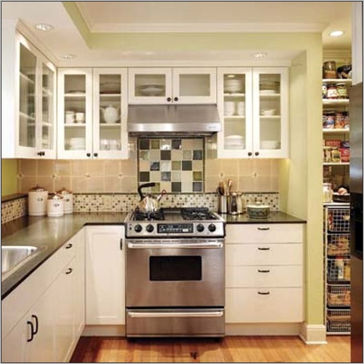 Kitchen Shelf Cabinets Decorating Ideas