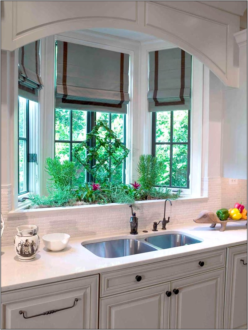 Kitchen Sink Bay Window Decor