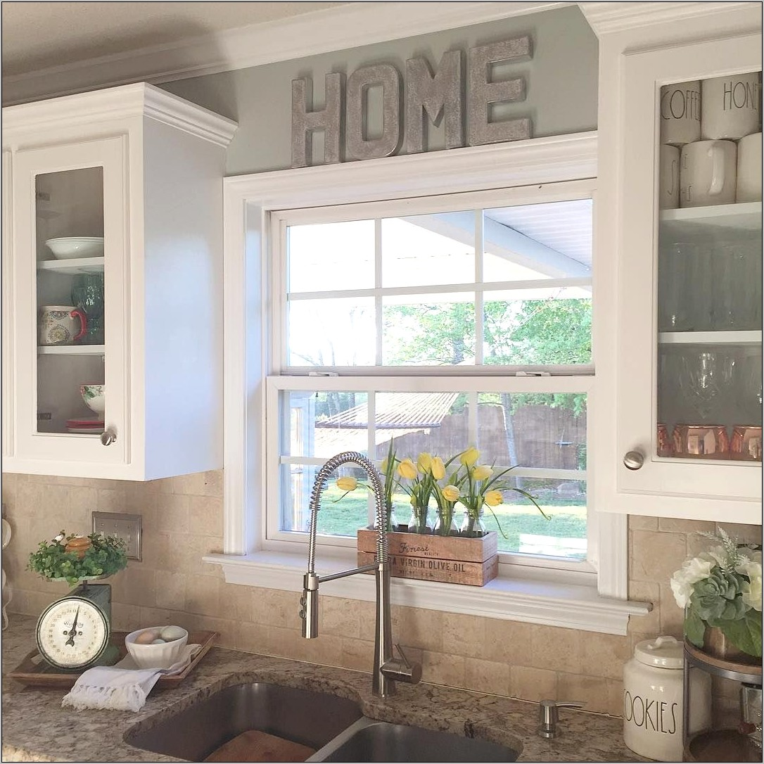 Kitchen Sink Window Decor