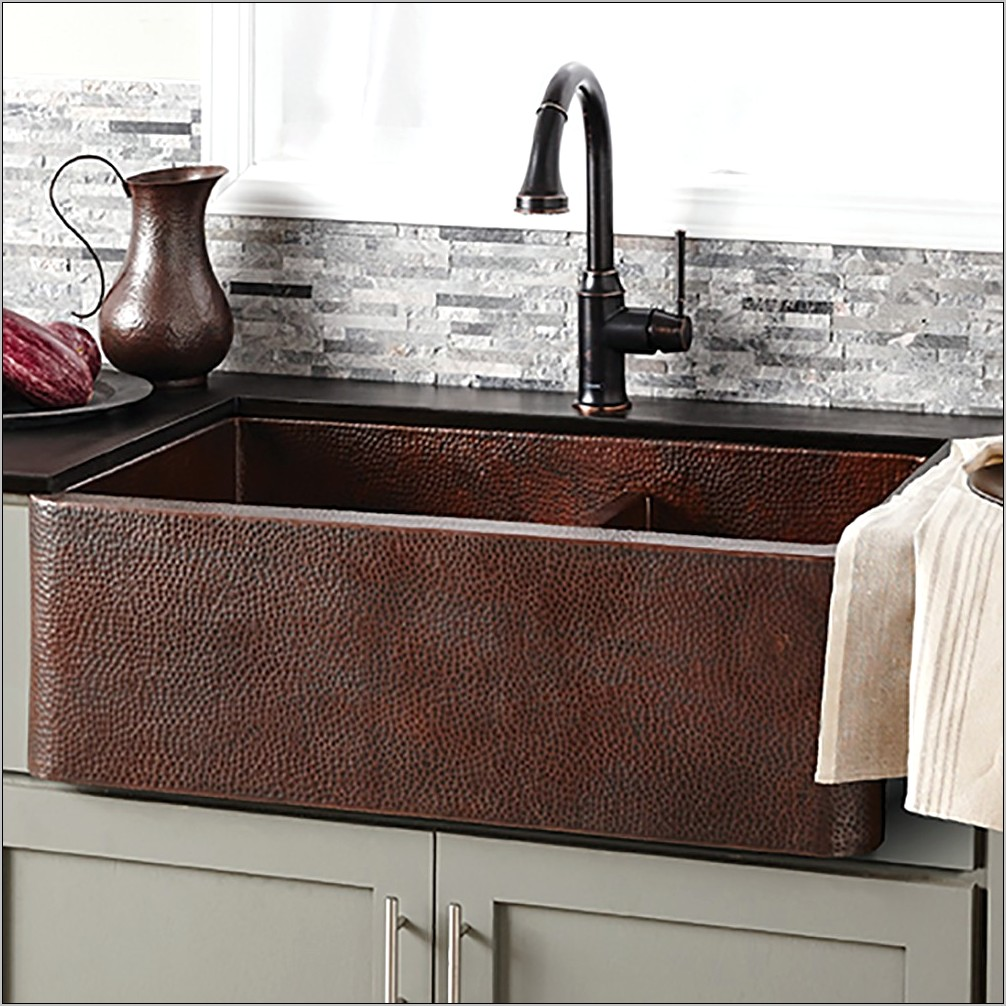 Kitchen Sinks Double Copper Decorative