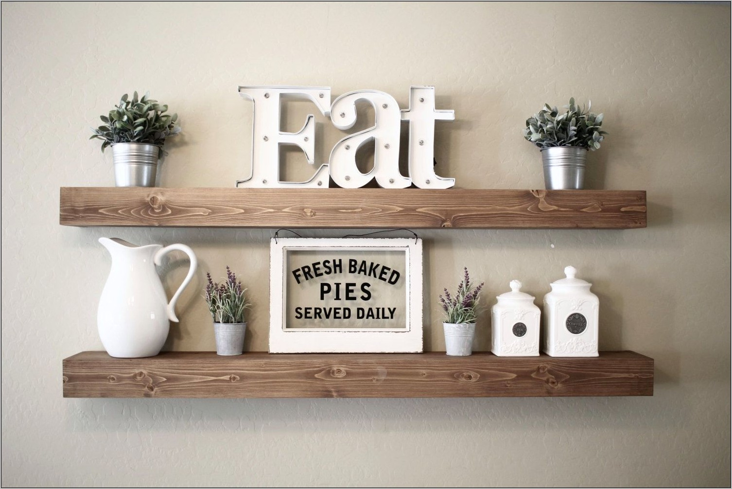 Kitchen Wall Shelf Decor