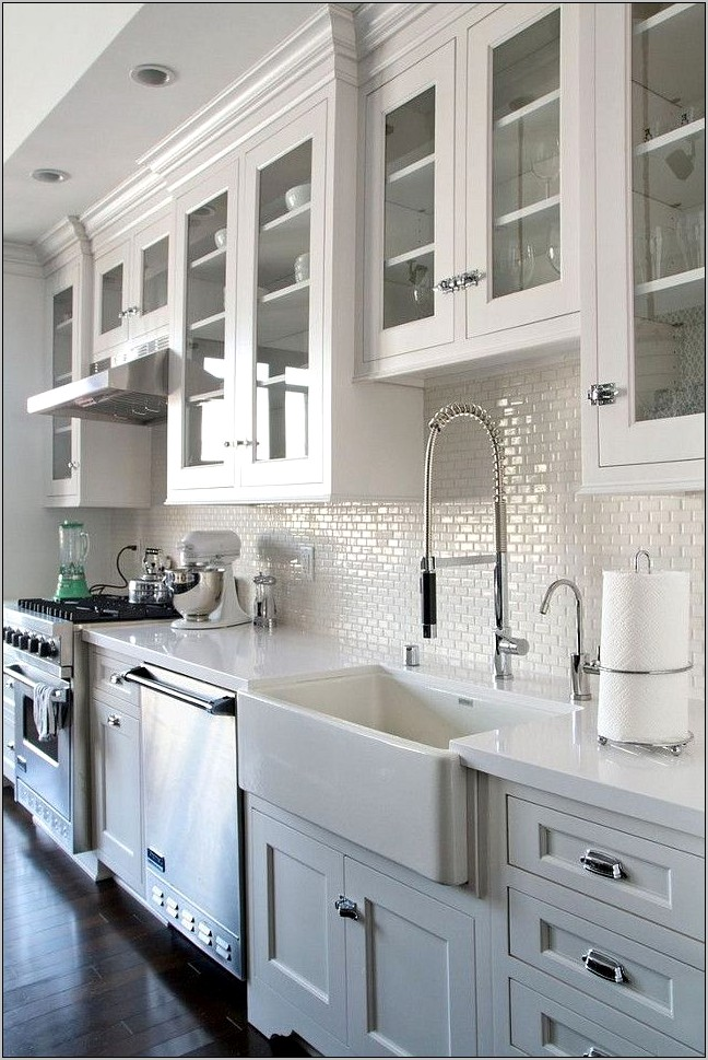 Kitchen White Cabinets Decorating Ideas