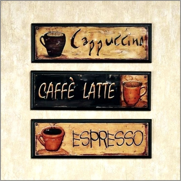 Large Coffee Cup Wall Decor For Kitchen