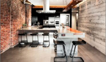 Large Kitchen Wall With Industrial Decor