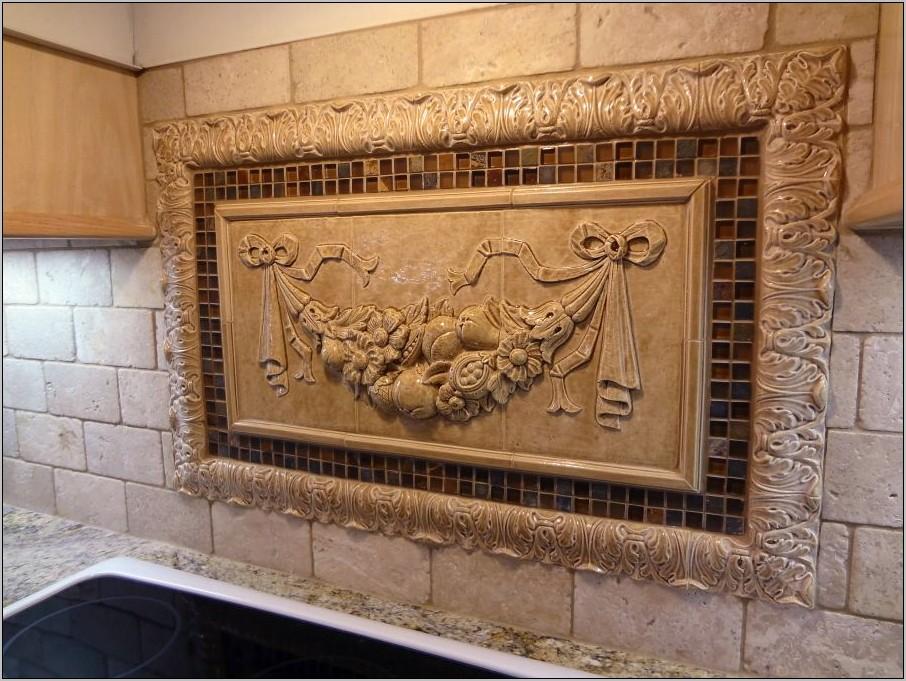 Large Unique Decorative Tile Kitchen Medalion