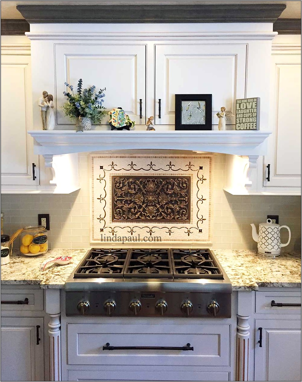 Large Unique Decorative Tile Kitchen Medallion