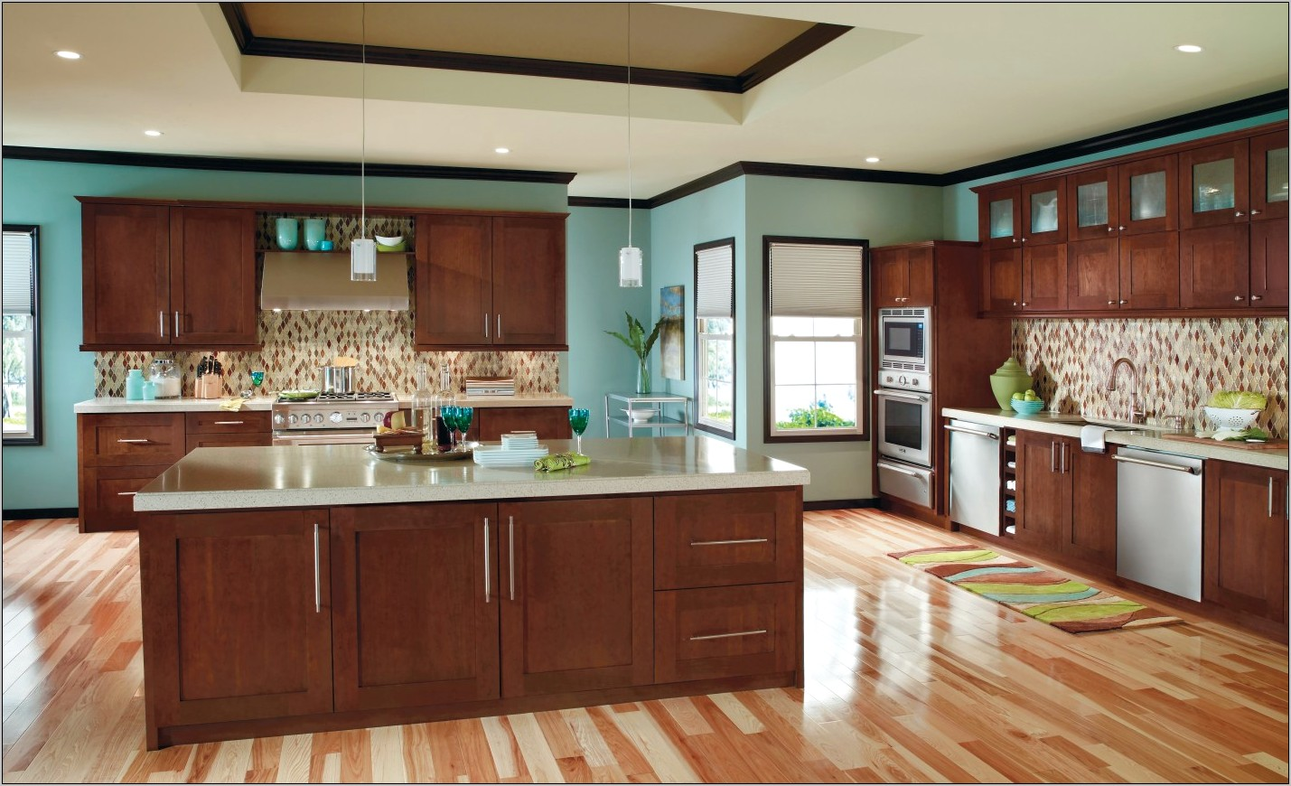 Light Brown Kitchen Cabinets Decor