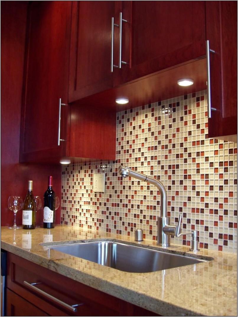 Mauve Tile Kitchen Counter Decorating
