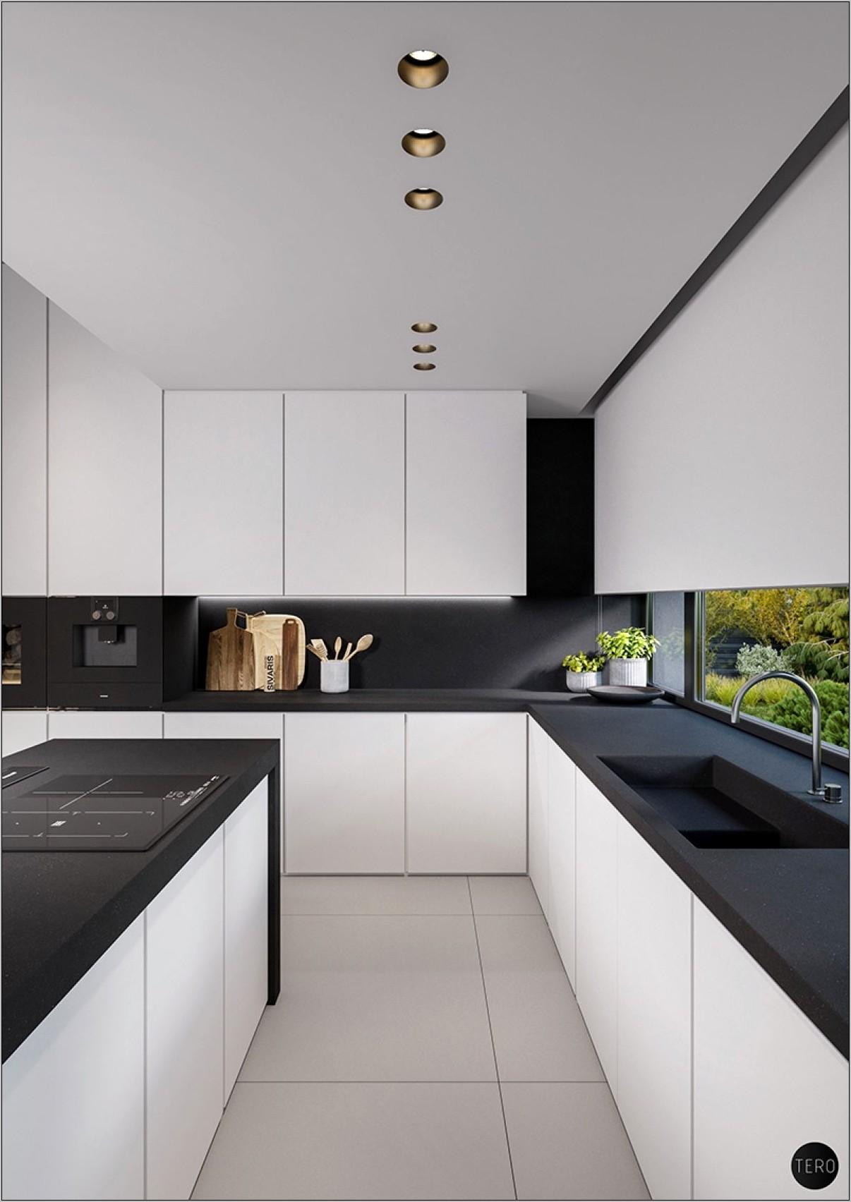 Modern Black And White Kitchen Decor