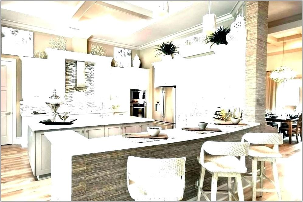 Modern Kitchen White Counter Decor