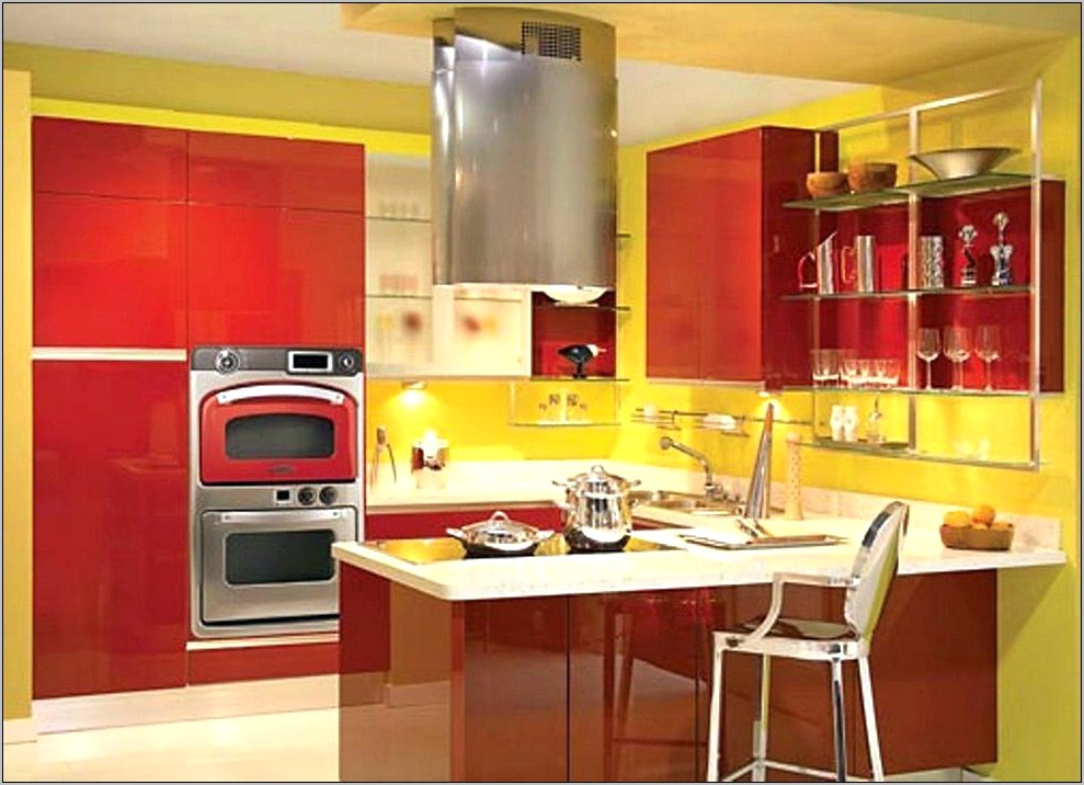 Modern Yellow Kitchen Design Decorating Ideas