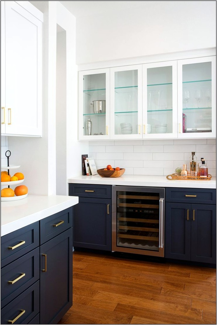 Navy Blue And White Kitchen Decor