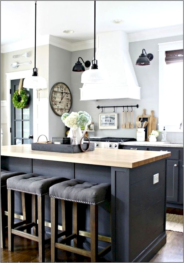Navy Blue Farmhouse Kitchen Decor