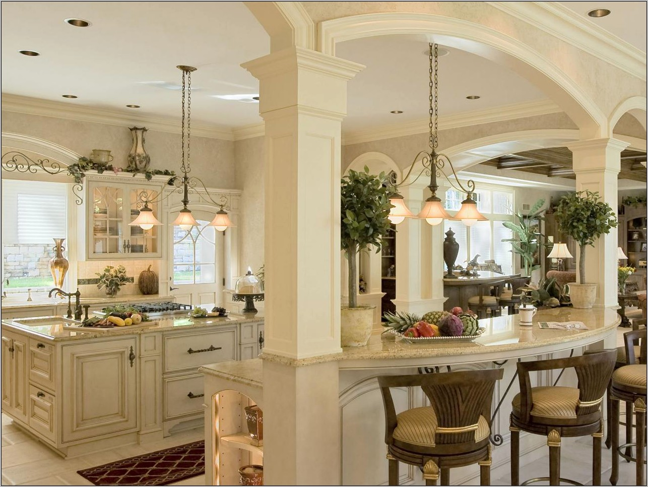 Old French Decorated Kitchen