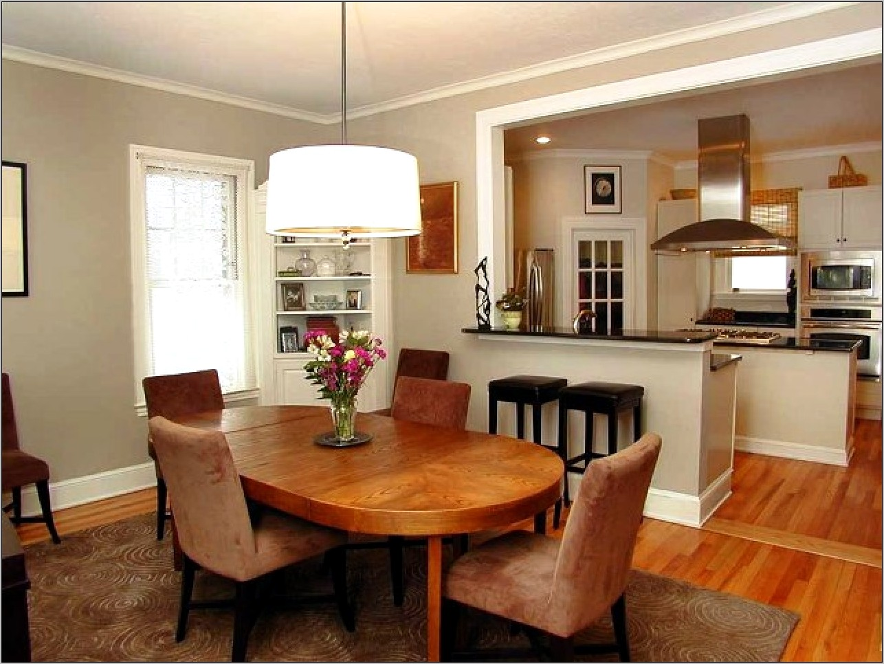 Open Kitchen And Dining Room Interior Decor