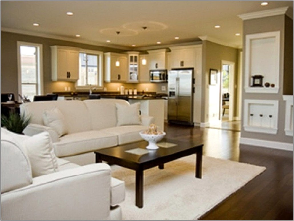 Open Layout Kitchen Living Room Decoration