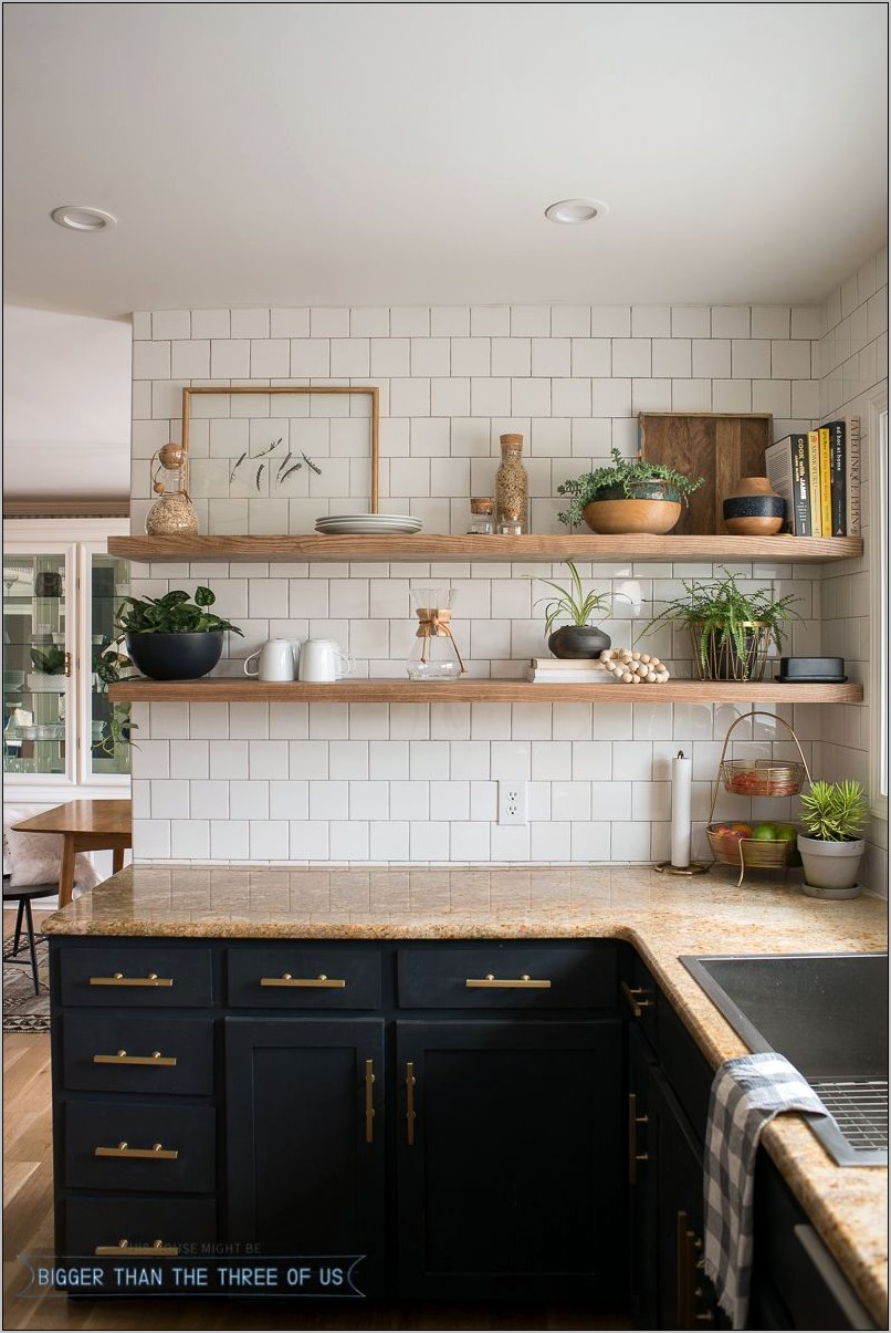 Open Shelving Kitchen Decorations