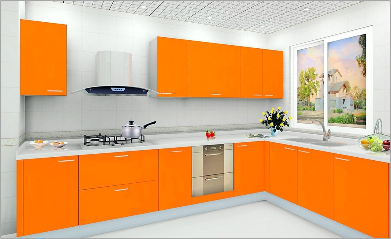 Orange And Blue Kitchen Decor