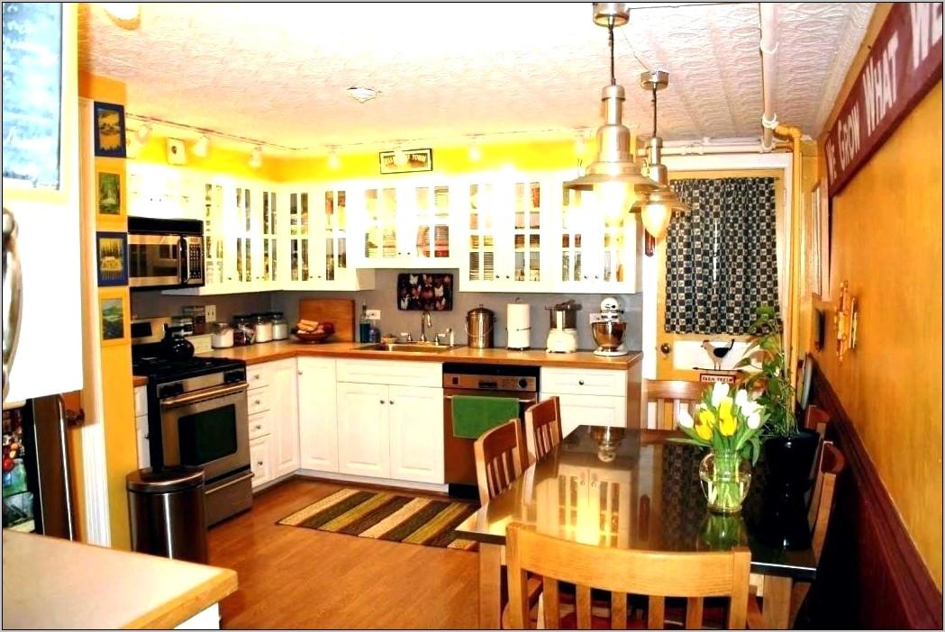 Orange And Gray Kitchen Decor