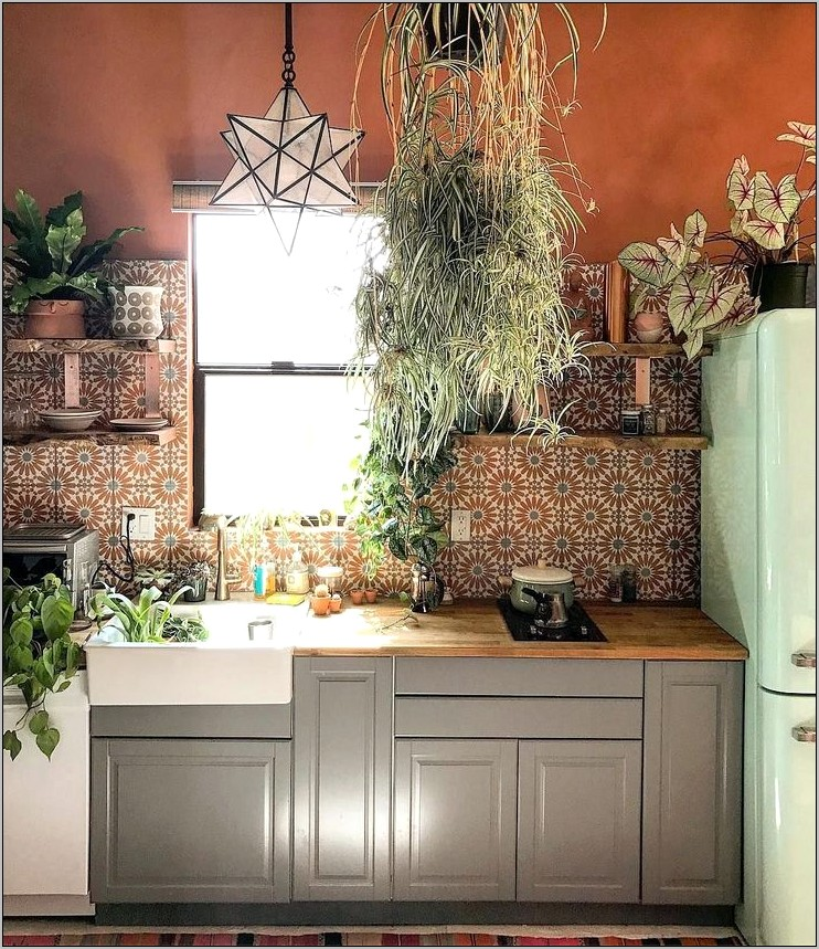 Orange And Grey Kitchen Decor