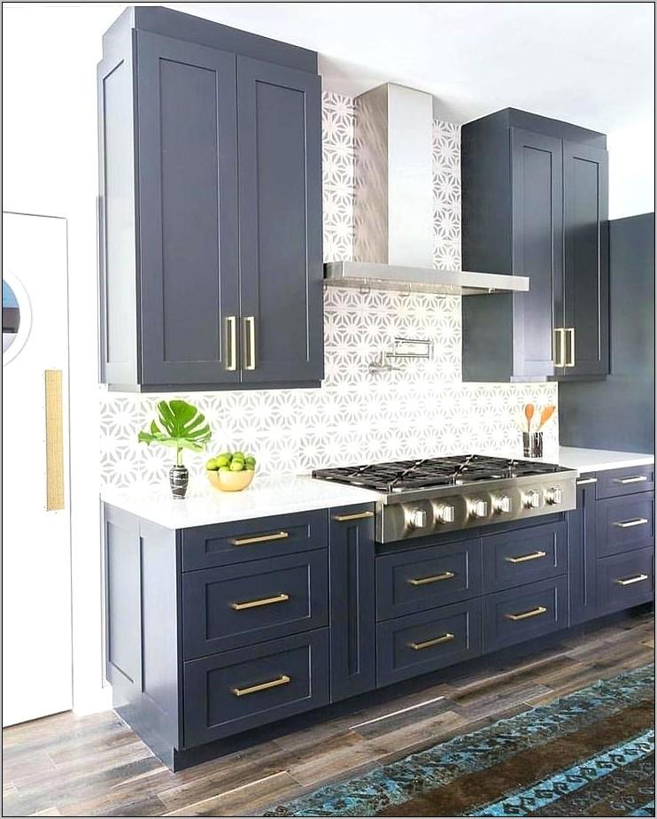 Orange Blue Kitchen Decor