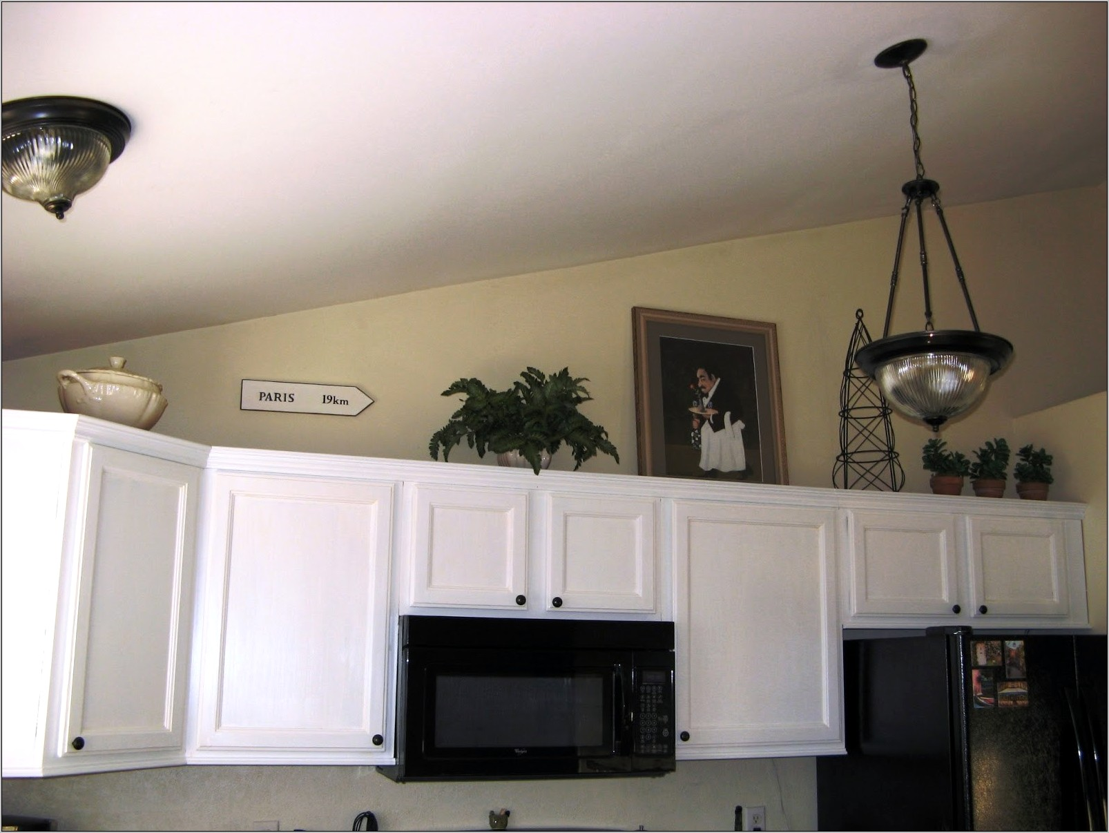 Over The Kitchen Cabinets Decor
