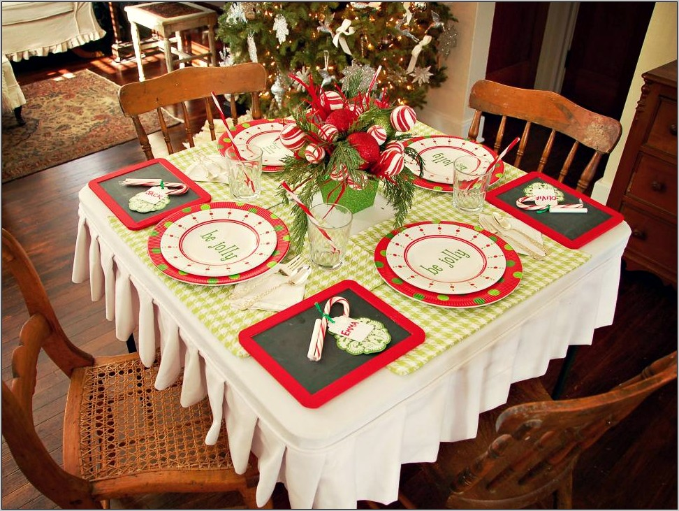 Photos Of Kitchen Table Holiday Decor