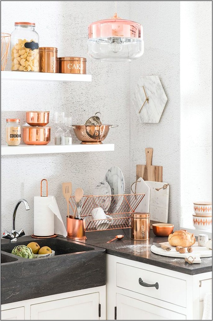 Picture Of Kitchen Decorated In Copper