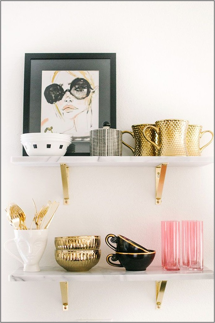 Pink And Gold Kitchen Decor